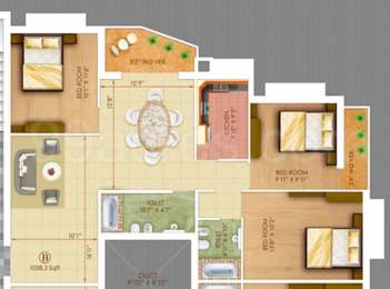 3 BHK Apartment in Rajwada Altitude
