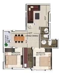 2 BHK Apartment in Rajwada Nirvana