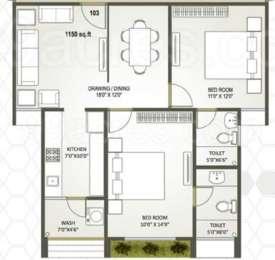 2 BHK Apartment in Rajyash Serenade Vista