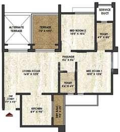 2 BHK Apartment in Rama Melange Residences
