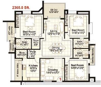 Apartment Floor Plans In Hyderabad ramky builders ramky towers floor plan - ramky towers p janardhan