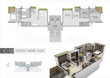 2 BHK Apartment in Orchid Greens