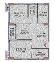 2 BHK Apartment in Realmark Oracle