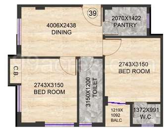 2 BHK Apartment in Realtech Rajotto