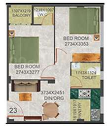 2 BHK Apartment in Realtech Nirman 16 Aana