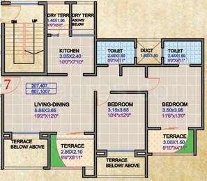 2 BHK Apartment in Regency Classic