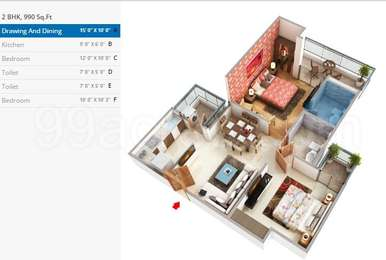 2 BHK Apartment in Rise Organic Homes