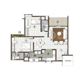 2 BHK Apartment in RMZ Galleria Residences