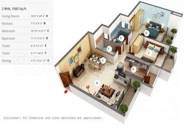 2 BHK Apartment in RNA Continental