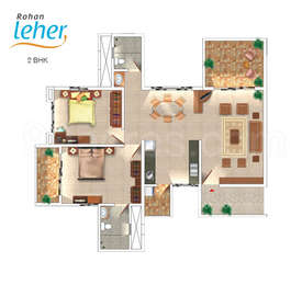 2 BHK Apartment in Rohan Leher