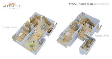 3 BHK Apartment in Rohan Mithila