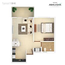 1 BHK Apartment in Rohan Abhilasha