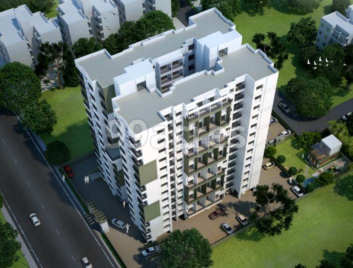 Roongta Meridian Apartment Aerial View