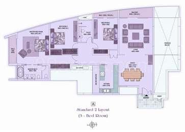 3 BHK Apartment in Shrachi Rosedale Garden