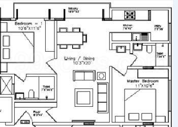 2 BHK Apartment in Rotson Casa