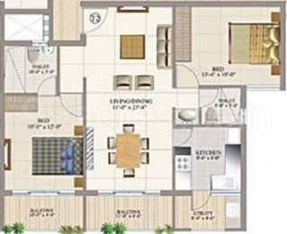 2 BHK Apartment in Rotson Solitaire