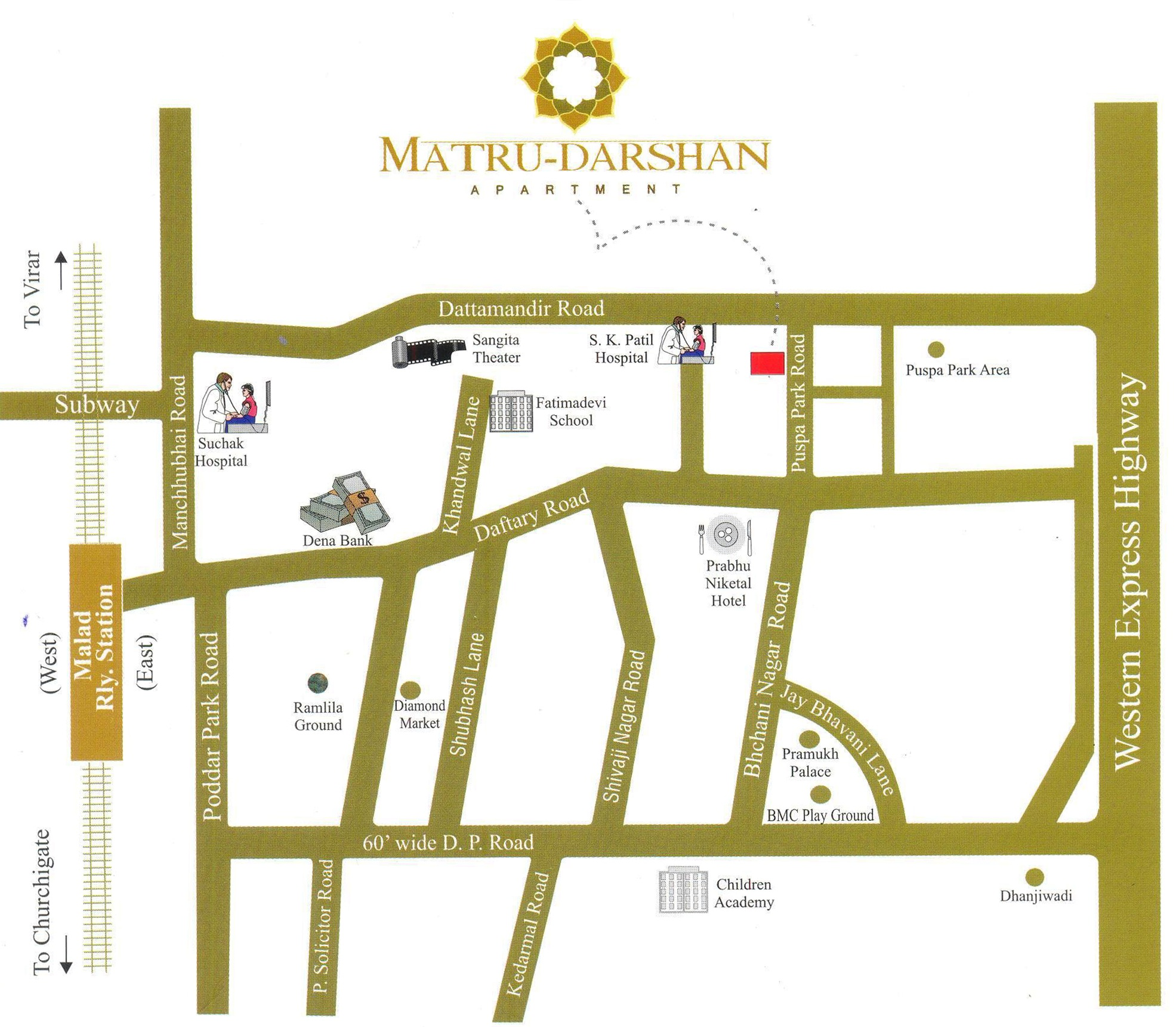 Royal Builder And Developers Royal Matru Darshan Map Royal Matru