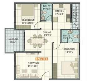 2 BHK Apartment in Ruchira Iris