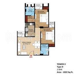 2 BHK Apartment in Rudra Aakriti