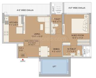 1 BHK Apartment in Ruparel Orion