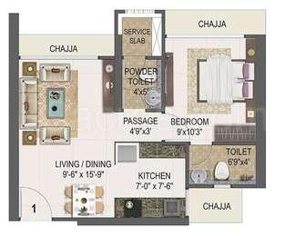1 BHK Apartment in Ruparel Nova