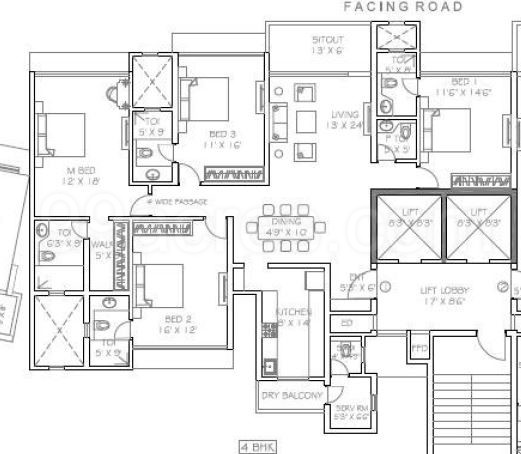 Rustomjee Builders Rustomjee Paramount Floor Plan Rustomjee