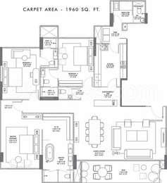 3 BHK Apartment in Rustomjee Elements