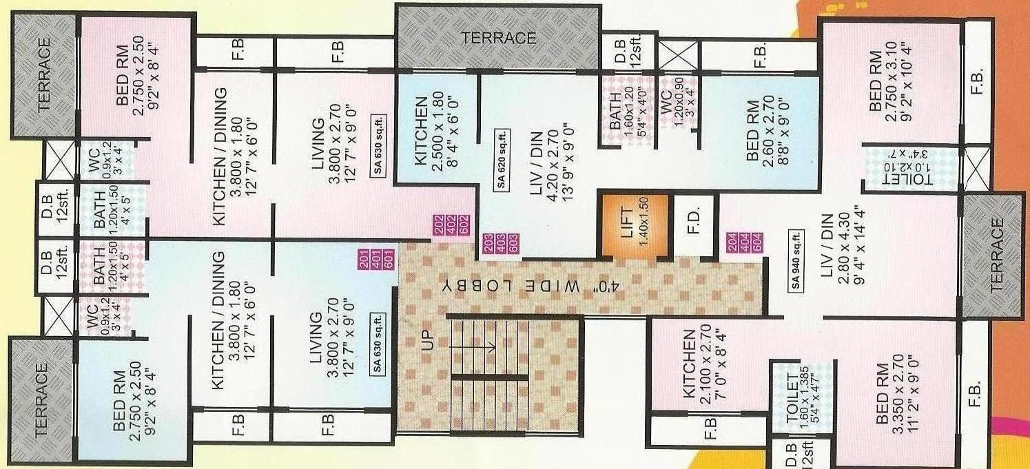 S s mhatre and group builders s s gauri laxmi floor plan for Guntha to sq ft