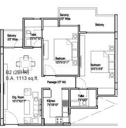 2 BHK Apartment in Sai Dham Residency