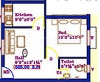 1 BHK Apartment in Sai Karthiga Sriram Flats