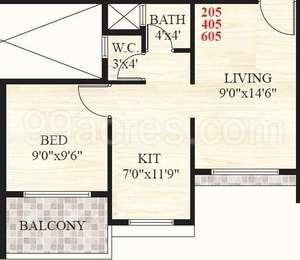 1 BHK Apartment in Sai Krupa Valley