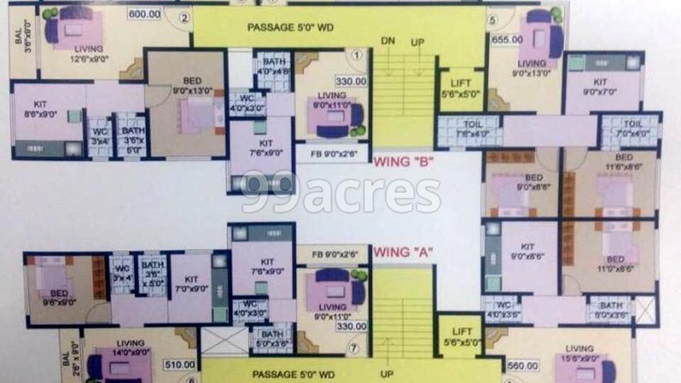 Saish Villa Typical Floor Plan