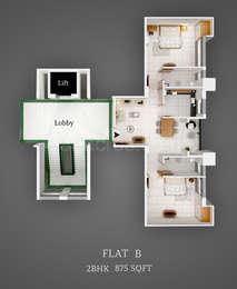 2 BHK Apartment in Saket Nagar