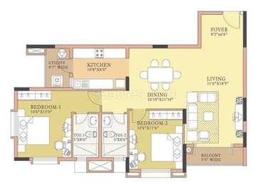 2 BHK Apartment in Salarpuria Symphony