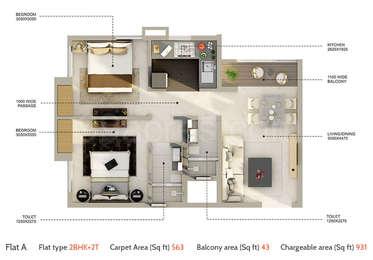 2 BHK Apartment in Amarana Residences