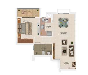 1 BHK Apartment in Salarpuria Sattva Park Cubix
