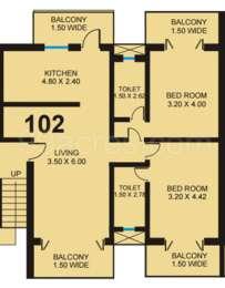 2 BHK Apartment in Saldanha Marigold
