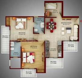 2 BHK Apartment in Samridhi Luxuriya Avenue