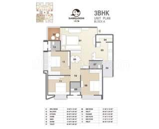 3 BHK Apartment in Samruddhi Sky