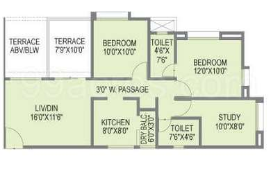 2 BHK Apartment in Samruddhi Lake Tower