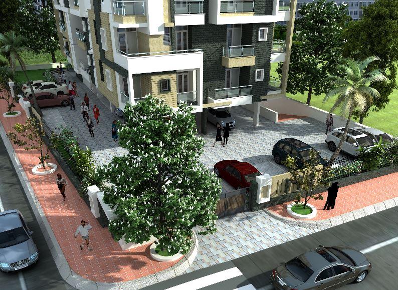 SDC Aishwarya Heights Compound View