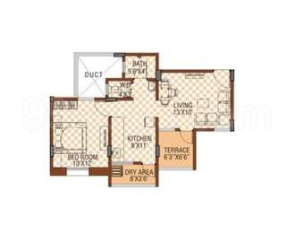 1 BHK Apartment in Sanjeevani Sangam Phase 2