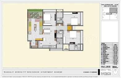 3 BHK Apartment in Sankalp Serenity