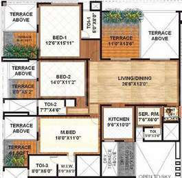3 BHK Apartment in Sanskruti Terraza