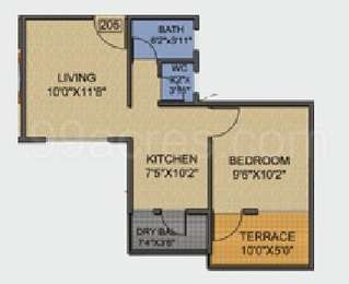 1 BHK Apartment in Sara Orchids