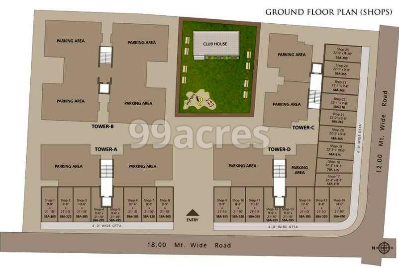 Saral Life Arena Typical Floor Plan