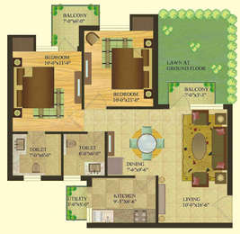 2 BHK Apartment in Sare Crescent Parc Royal Greens Phase 1