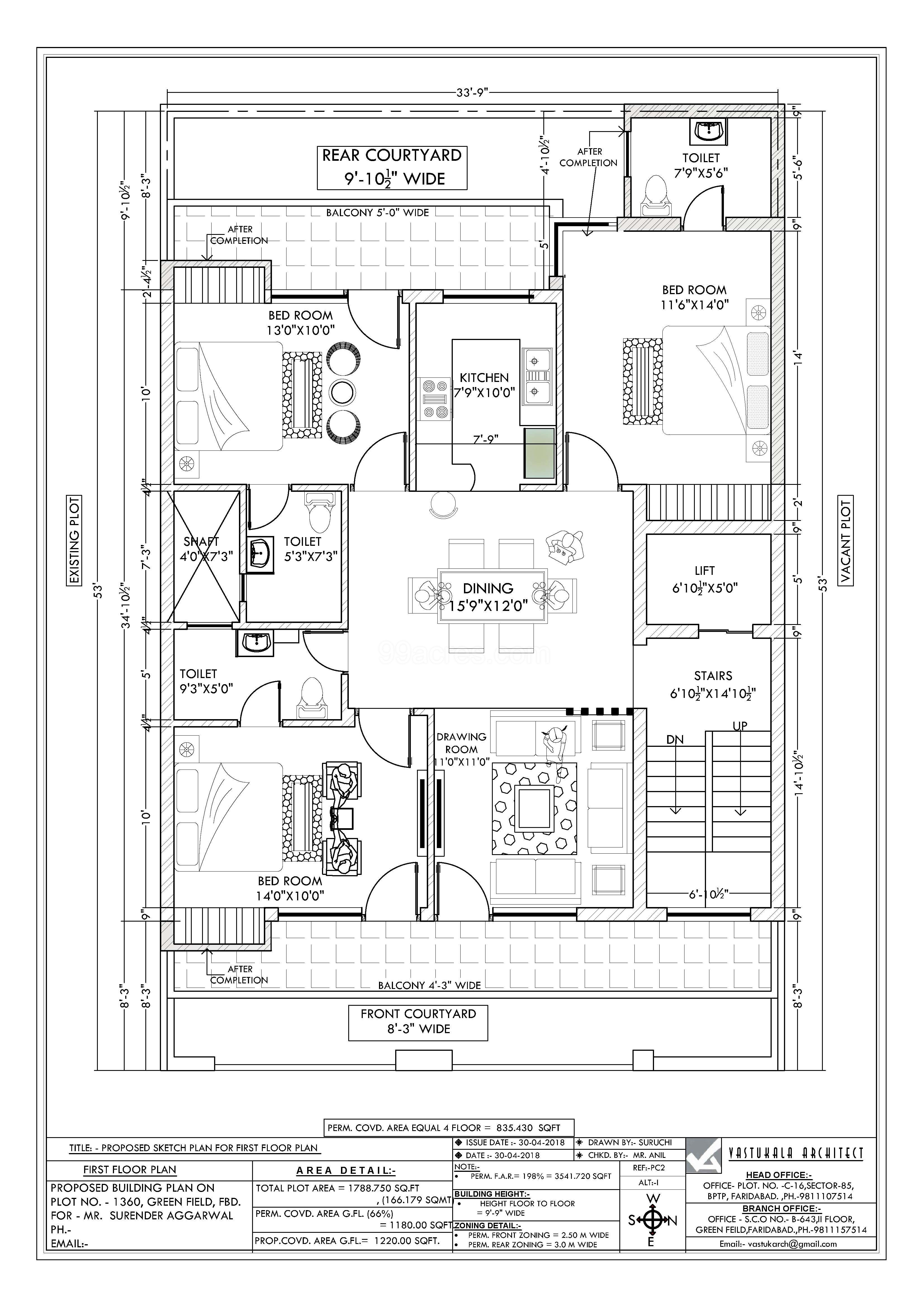Faridabad Satvik Homes Floor Plan
