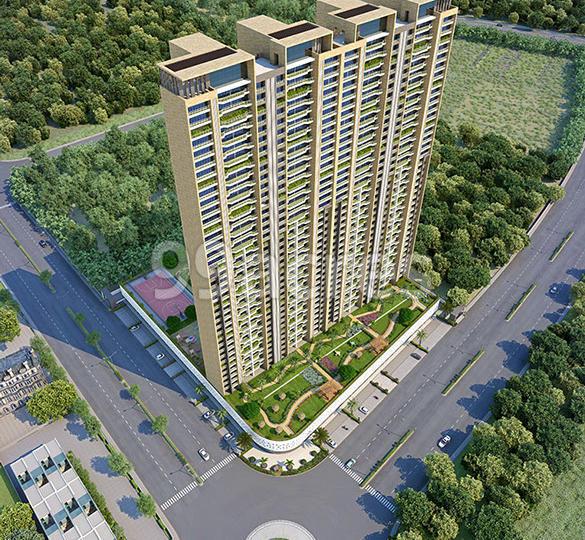 Satyam Imperial Heights Aerial View