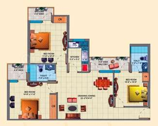 3 BHK Apartment in SDS NRI Residency